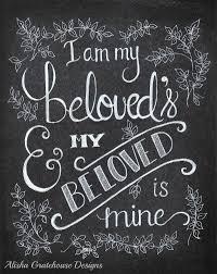 i am my beloved scripture chalkboard print i am my beloved s my beloved is