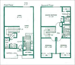 three bedroom townhouse floor plans aging place housing project google da ara mimari pinterest
