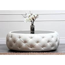 popular of round fabric ottoman coffee table with round ottoman