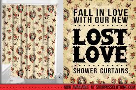 sourpuss shower curtain sourpuss clothing sourpuss clothing