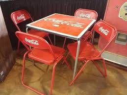 coca cola table and chairs 0 coca cola table with 4 chairs for sale at vicari auctions new