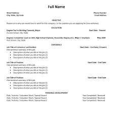 Resume Template For First Job First Resume Template How To Write A For You Peppapp