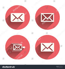mail envelope icons message delivery symbol stock vector 326267915