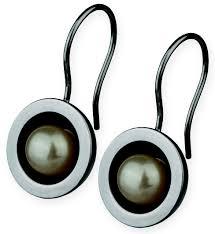 ernstes design ohrringe perlenmarkt onlineshop ernstes design ohrringe konkav mit perle