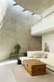 minimalist house design with high ceiling and modern chaise with