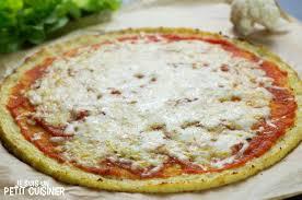 comment cuisiner le chou fleur recette de pâte à pizza de chou fleur