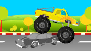 youtube monster trucks racing monster truck yellow youtube