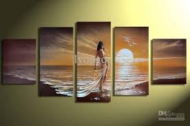 home decoration painting discount hand painted hi q modern home decorative abstract woman
