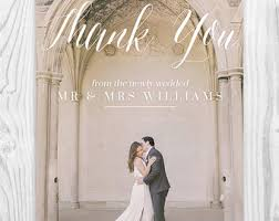 thank you postcards wedding thank you cards etsy