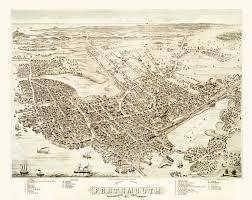 Vintage Map Vintage Map Of Portsmouth New Hampshire From 1877 Knowol