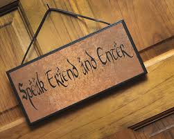 lotr hobbit trees tolkien speak friend and enter doormat geek