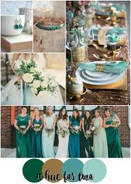 teal wedding emerald teal mint and gold wedding color scheme wedding