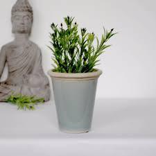 small sea green crackle glaze ceramic pot