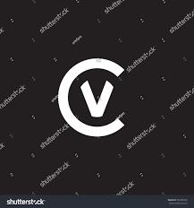 cv v vc initial letter logo cv vc v stock vector 567226555