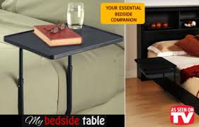 tv table as seen on tv 40 off light weight and portable bed side table as seen on tv