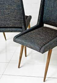 Dining Chair Upholstered Fabric Dining Chair With Massive Oak Legs Navy Dark Blue Inside