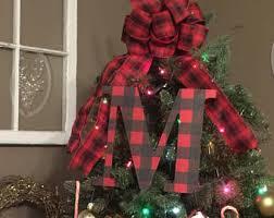 monogram tree topper monogram christmas tree topper front door letter letter for