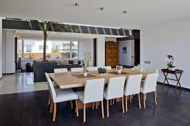 interior simple elegant dining room interior with wooden table