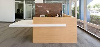 Laminate Reception Desk Application Omni Pacific Reception Desk