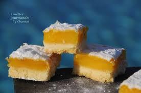 pate sablée hervé cuisine carrés au citron sur biscuit sablé