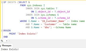 T Sql Drop Table If Exists How To Check If An Index Exists In Sql Server Sqlhints Com