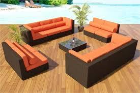 Wicker Outdoor Patio Furniture Bellagio Bronze Wicker Viro Fiber Furniture Set 21