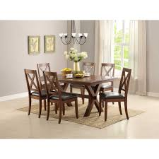 Dinner Table Set by Better Homes And Gardens Maddox Crossing Dining Table Brown