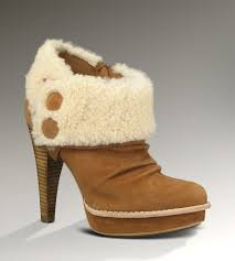 ugg womens georgette shoes chestnut ugg georgette ankle boot for leather ankle bootie at