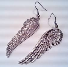 wing earrings hanging angel wing earrings by steamdesigns on deviantart