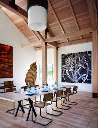 love this cat sculpture by thomas houseago l designed ashe a grand cat sculpture overlooks the dining room of an art collector s martha vineyard home devised by ashe leandro for more home decorating ideas that