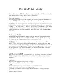 28 critique essay sample journal article critique in apa format