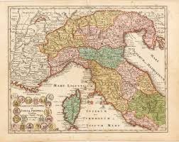 Map Northern Italy by Antique Map Of Northern Italy Weigel 1720 Hjbmaps Com U2013 Hjbmaps