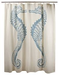 seahorse shower curtain beach style shower curtains by