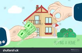buying new home hand gives money stock vector 684944710 shutterstock