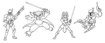 star wars coloring pages clone wars free action coloring pages