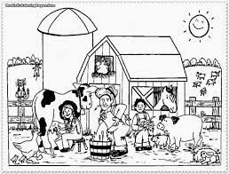 farm animal coloring pages cow and chicken farm animals