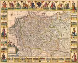 germania map map of germany 1630 photograph by andrew fare