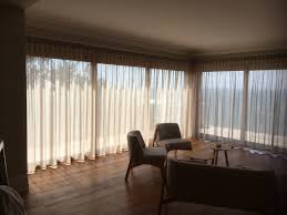 linen blend sheer curtains with inverted style pleat on silent