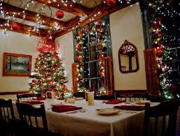dining room christmas decor cleverly placed wreaths add to the appeal of the dining