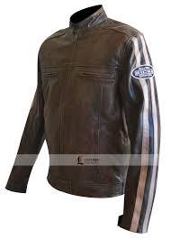 racing biker jacket richa retro racing brown leather motorcycle jacket