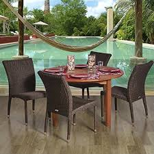 5 Pc Patio Dining Set Outdoor Patio Dining Sets With Table Chairs