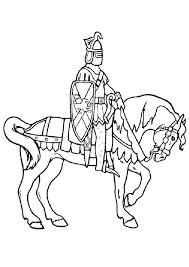 coloriage princce en armure de chevalier
