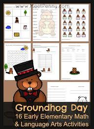 groundhog elementary printables meet penny