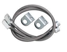 1988 jeep comanche white rubicon express re1550 front stainless steel brake lines for 82 01
