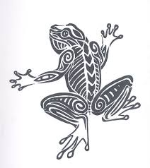tribal frog design by martyrwerewolf on deviantart