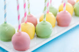 easter cake pops easter cake pops on fancy straws stock photo picture and