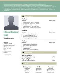 22 contemporary resume templates free download