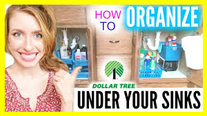 bathroom organization under the sink dollar tree ideas how to