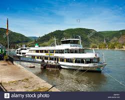 germany rhine river cruise boat docked at the river front in