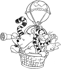 popular character free coloring activity winnie pooh pooh
